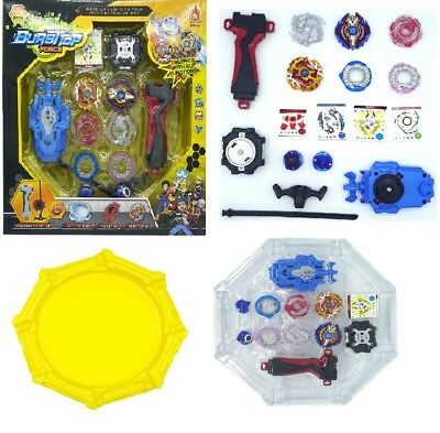 New Beyblade Burst Set Fight Toy Stadium Arena with Ripcord String Launcher Grip