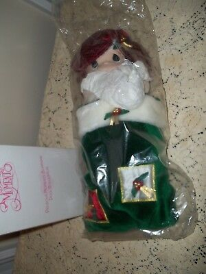 PRECIOUS MOMENTS HOLLY DOLL 1999 Christmas Stocking Doll NEW in Box