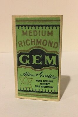 """WW1 - Imperial Tobacco - """"Richmond GEM"""" - Cigarette Pack & Card - Reproduction"""