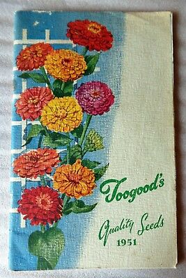 Toogoods Quality Seeds 1951  - Vintage Catalogue Gardeners Annual  Horticulture