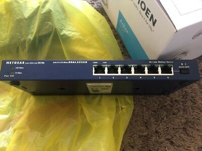 Netgear DS106 6-Port Fast Ethernet Dual Speed Hub - FREE Shipping!