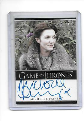 Game of Thrones Season 1 Michelle Fairley as Lady Catelyn Stark Bordered Auto