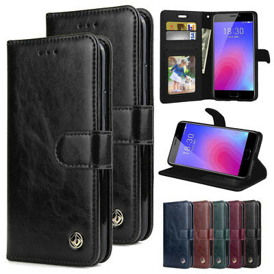 Flip Cover Magnetic PU Leather Wallet Card Case Stand For Meizu M6 Note/M6S/M5C