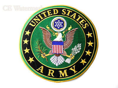 Us Army Extra X Large Embroidered Jacket Patch 10 Inches