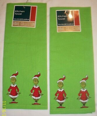 The Grinch Kitchen Towel Set Dr. Seuss How The Grinch Stole Christmas