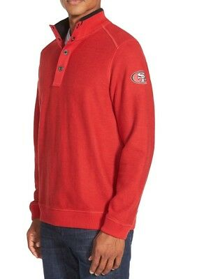 TOMMY BAHAMA  San Francisco 49ers  Men s NFL Scrimshaw Pullover Sweater XL 257921c13