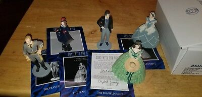 FRANKLIN MINT GONE WITH THE WIND FIGURINE SET (5 total)