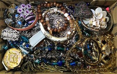 Huge Vintage - Now Jewelry Lot Estate Find Junk Drawer UNSEARCHED UNTESTED #594