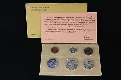1963-P US Mint Silver Proof Coin Set ORIGINAL PACKAGING AND COA 1C-50C Half $