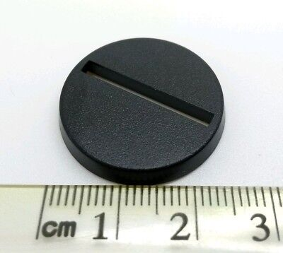 Wargaming miniature bases 25mm round with slot X 10. Warhammer models