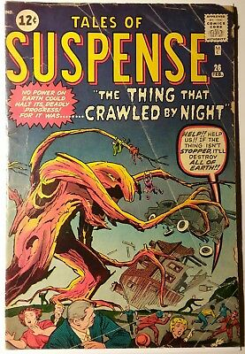 Marvel Comics Tales Of Suspense #26 - The Thing That Crawled By Night! Nice Copy