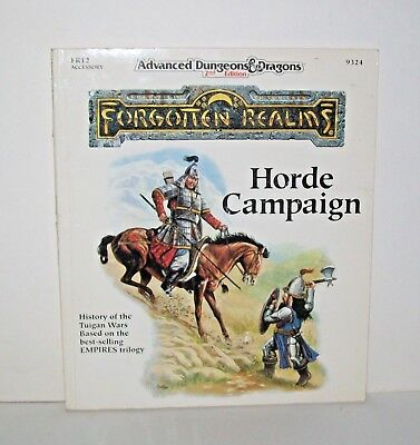 Vtg 1991 TSR Horde Campaign 2nd Edition Forgotten Realms FR12 AD&D 9324 NOS