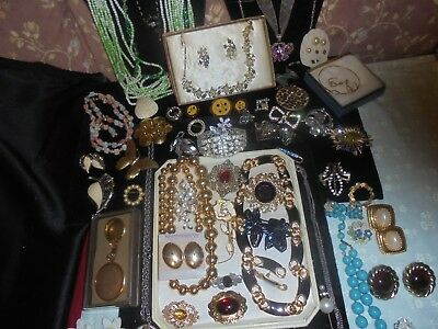Vintage To Now  High End Costume Jewelry64 Lot-Signed-Freirich,sterling,turquois