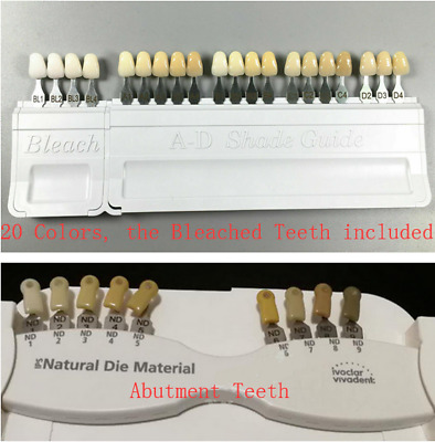 Dental Ivoclar Vivadent A-D Shade Guide Bleach 29-Teeth IPS Natural Die Abutment