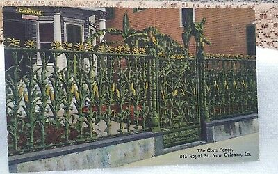 Vintage Postcard The Corn Fence in New Orleans.