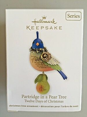 Hallmark 2011 Twelve Days Of Christmas Partridge In A Pear Tree Ornament