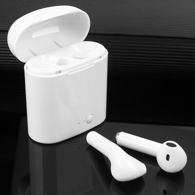 i7 Dual Wireless Bluetooth Earphone Earbuds For Apple iPhone iOS Android Samsung