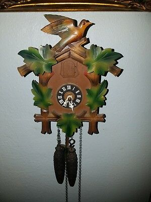 Small vintage  German Wall Cuckoo Clock
