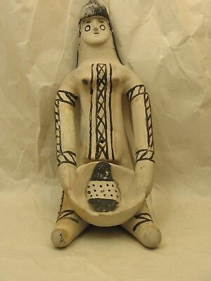 Vintage Brazilian Indian Seated Woman Figure