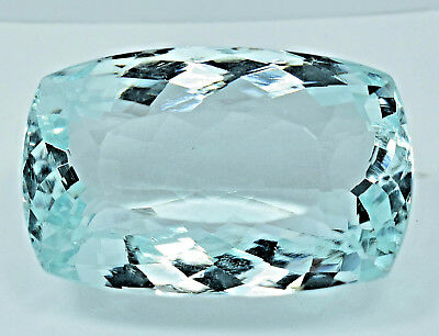 109.10 Ct NATURAL Blueish Green AQUAMARINE Loose Cushion GEMSTONE AGSL Certified