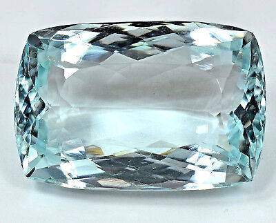 114.90 Ct NATURAL Blueish Green AQUAMARINE Loose Cushion GEMSTONE AGSL Certified