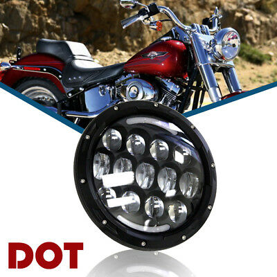 fit Harley Street Glide Softail FLHX F 7Inch LED Projector Headlight Superglide