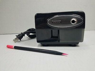Black Panasonic Auto Stop Electric Pencil Sharpener KP-310 TESTED & WORKING!