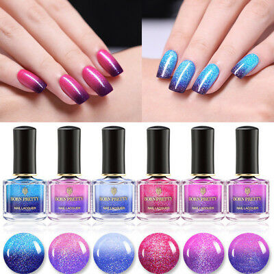 BORN PRETTY 6ml Thermal Color Changing Nail Polish Peel Off Nail Art Varnish DIY