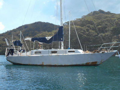 Roberts 34ft steel yacht sailed pacific needs work (Pittwater NSW) No Reserve!