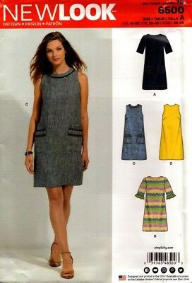 New Look Sewing Pattern 6500 Ladies Dress Size 10-22