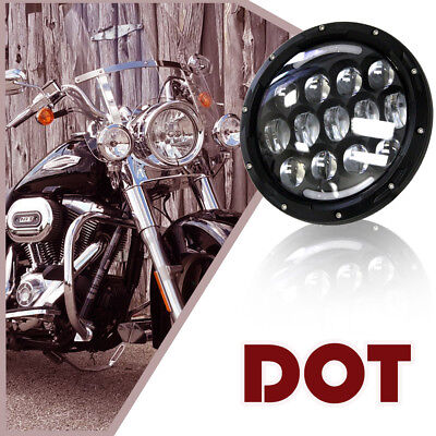 Fit Harley Davidson Touring Street Glide Softail Dyna 7'' LED Headlight warranty