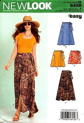 New Look Sewing Pattern 6456 Ladies Skirts Size 6-18