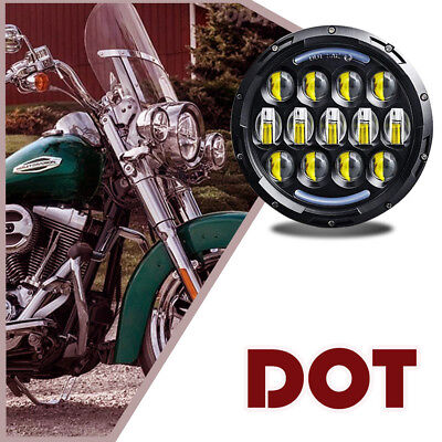 "Fit Harley Yamaha Honda 7"" LED Motorcycle Projector Daymaker Headlight Life Long"