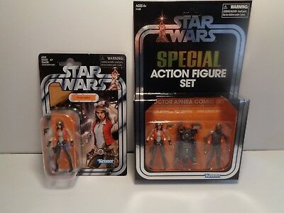 SDCC 2018 Exclusive Hasbro Star Wars Dr. Aphra W/ Killer Droids and VC129 Rare