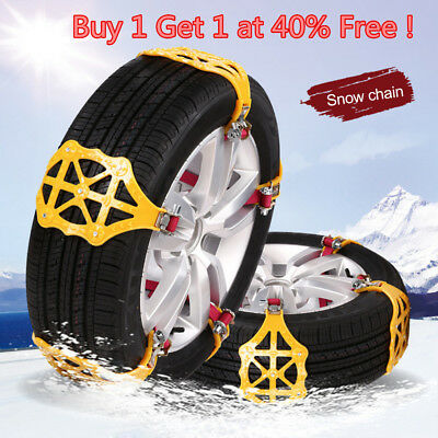 Car Anti-skid Snow Tyre Tire Chains Beef Tendon Wheel Chain Belt Set Z