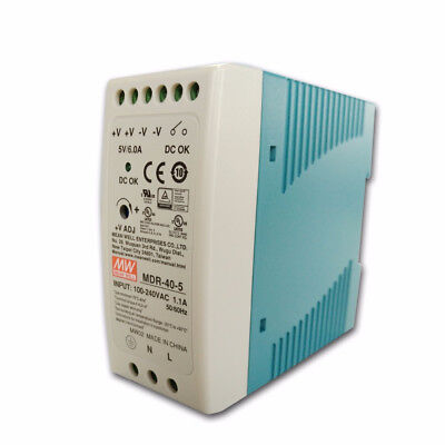 MDR-40 40W Single Output 5V 12V 15V 24V Din Rail Switching Power Supply AC/DC