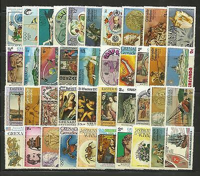 GRENADA (West Indies) Collection Packet of 100 Different POSTAGE STAMPS MNH