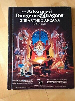 AD&D 1st Ed Hardcover - UNEARTHED ARCANA 1985 (Englisch) Rollenspiel