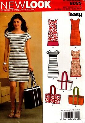New Look Sewing Pattern 6095 Ladies Dress & Bag Size 10-22