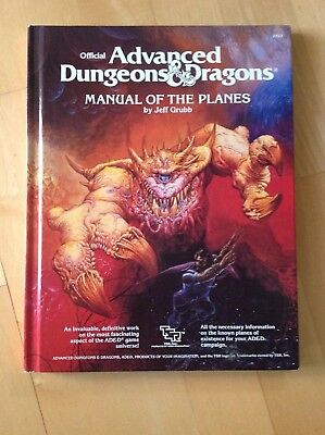 AD&D 1st Ed Hardcover - Manual of the Planes 1987 (Englisch) Rollenspiel