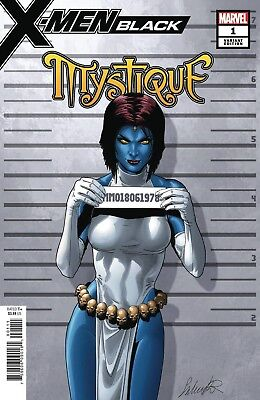 X-Men Black Mystique #1 Larroca Mugshot Variant Marvel Comics Near Mint 10/17/18
