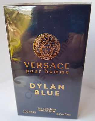 VERSACE - Dylan Blue edt 200 ml. Spray Perfume hombre 100% Original. PRECINTADO.