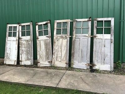 "33"" x 2'' x 90'' H Anitque Vintage 6 Carriage Garage Sliding Hanging Doors."