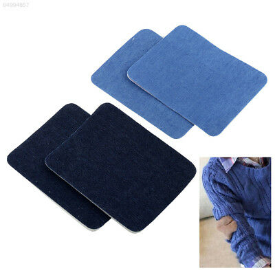 A289 2PCS Iron On Denim Jeans Patches Repairs Knee Sewing Cloth fill hole Cowboy