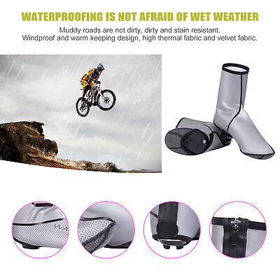 Bicycle Over Shoe Cover Outdoor Bike Cycling Zippered Sportwear Overshoes CO