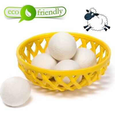 70mm Reusable Laundry Wool Balls Dryer 100% Softens Organic Fabric Tumble Ball