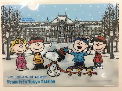 """[Tokyo Limited]Snoopy clear file folder PEANUTS in """"TOKYO Station"""""""