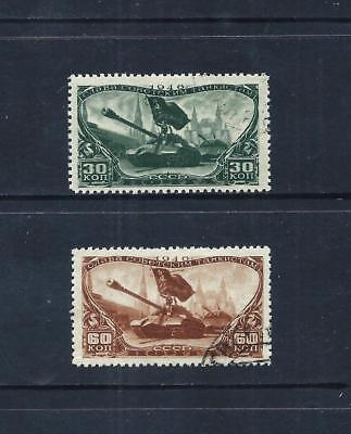RUSSIA _ 1946 'TANK HEROES' SET of 2 _ used ____(553)