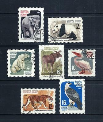 RUSSIA _ 1964 'MOSCOW ZOO' SET of 7 _ used ___(553)