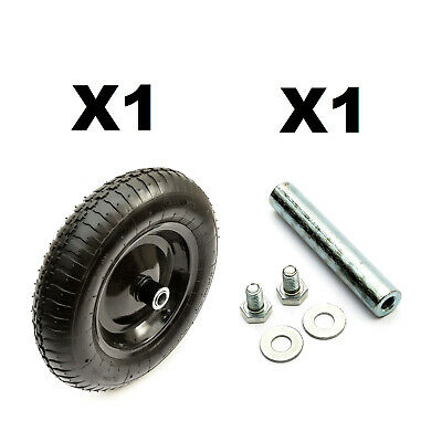 14'' 4 Ply 3.50-8 Wheelbarrow Metal Wheel & Tyre + Innertube + Axle + Bearings